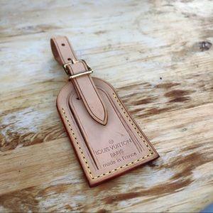 Louis Vuitton keepall monogram brown luggage tag